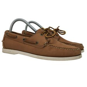L.L. Bean Womens Boat Shoes Loafers Brown Leather